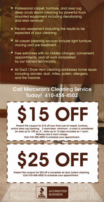 Merceron's Cleaning Service coupons